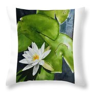 Water Lilly Throw Pillow by Gigi Dequanne