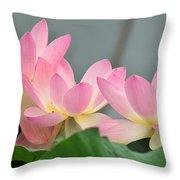 water lily 57 Pink Lotus Throw Pillow