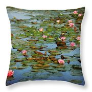 Water Lily Ballet Throw Pillow