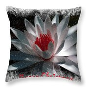Water Lily Christmas Throw Pillow