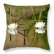 Water Lily Duet Throw Pillow
