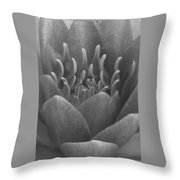 Water Lily Flame Bw Throw Pillow