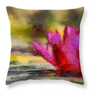 Water Lily - Id 16235-220419-3506 Throw Pillow