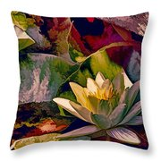 Water Lily In Living Color Throw Pillow