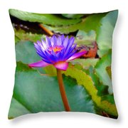Water Lily In Tahiti Throw Pillow