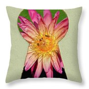 Water Lily Keyhole Throw Pillow