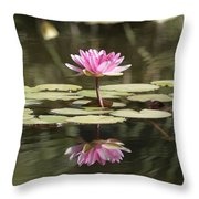 Water Lily Throw Pillow