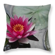 Water Lily With Bubbles Throw Pillow