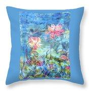 Water Lotus Throw Pillow
