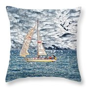 Water Marble Throw Pillow