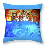 Water Meets Earth Throw Pillow