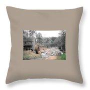 Old Mill Near Atlanta, Ga. Throw Pillow