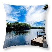 Water Mirrors Sky Throw Pillow