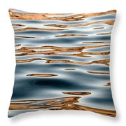 Water Movement- Liquid Gold Throw Pillow