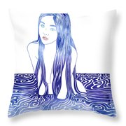 Water Nymph L Throw Pillow