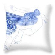 Water Nymph Xlvii Throw Pillow