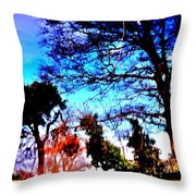 Water Of Leith At Chesser Throw Pillow