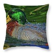 Water Off A Ducks Back Throw Pillow
