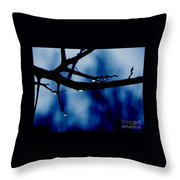 Water On Branch Throw Pillow