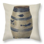 Water Or Wine Jug Throw Pillow