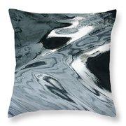Water Patterns Throw Pillow