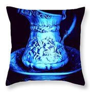 Water Pitcher And Bowl Still Life Throw Pillow