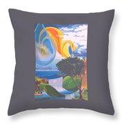 Water Planet Series - Vetor Version Throw Pillow