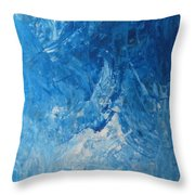 Water Planet Surface Throw Pillow