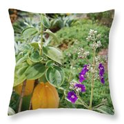 Water Plants And Flower Throw Pillow