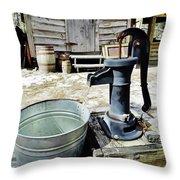 Water Pump Throw Pillow