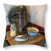 Water Pump In Kitchen Throw Pillow