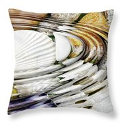 Water Ripples Above Sea Shells Throw Pillow