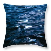 Water Ripples On Surface Throw Pillow