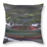 Water Sculpture Green Series 2 Throw Pillow