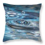 Water Sculpture In Blue 1 Throw Pillow