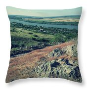 Water Shapes Rock Throw Pillow