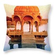 Water Shrine Throw Pillow