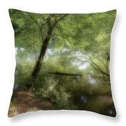 Water Side Throw Pillow