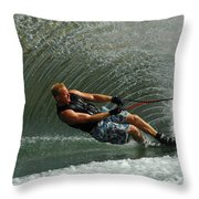 Water Skiing Magic Of Water 11 Throw Pillow by Bob Christopher