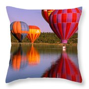 Water Skippers Throw Pillow