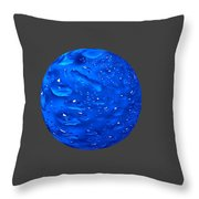 Water Sphere. Throw Pillow
