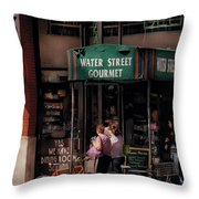 Water St Gourmet Deli  Throw Pillow