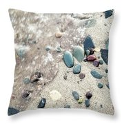 Water Stones Throw Pillow