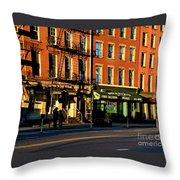 Water Street At Dusk Throw Pillow