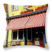 Water Street Cafe Throw Pillow