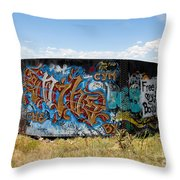 Water Tank Graffiti Throw Pillow