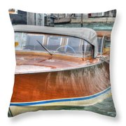 Water Taxi Italy Throw Pillow