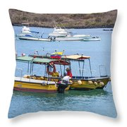 Water Taxis Waiting Throw Pillow