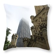Water Tower And Hancock Throw Pillow