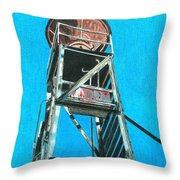 Water Tower Throw Pillow by Glenda Zuckerman